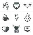 love Icons Set Design vector image vector image