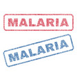 malaria textile stamps vector image vector image