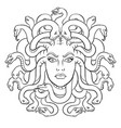 medusa greek myth creature coloring vector image vector image