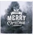 Merry Christmas creative graphic message for vector image vector image