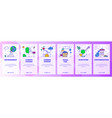 mobile app onboarding screens environment vector image vector image