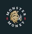 modern professional logo emblem monster vector image vector image