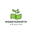 money growth paper logo icon vector image
