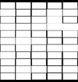 mosaic pattern with random rectangles irregular vector image