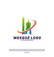 Mosque logo design concept templateplanet