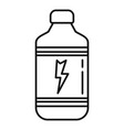 pack energy drink glass icon outline style vector image vector image
