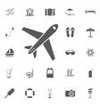 plane icon solid pictogram vector image vector image