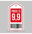 Price tag red vector image vector image