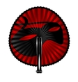 red fan mask vector image