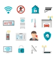 Remote home control system Smart House vector image