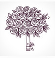 rose flowers gift luxurious anniversary bouquet vector image