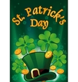 Saint Patric Days Plackard EPS 10 vector image vector image