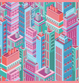 seamless pattern with tall isometric city vector image vector image