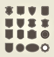 set of shield in different shapes vector image vector image