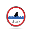 sign of danger from sharks vector image vector image