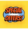 Special offer comic book bubble text retro style vector image vector image