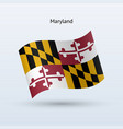 state of maryland flag waving form vector image vector image