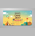 summer camp banner layout