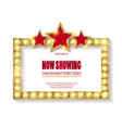 Theater sign or cinema sign on white background vector image