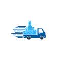 town delivery logo icon design vector image