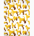 vertical card pattern with cute cartoon gold dog vector image vector image