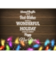 Vintage Christmas planked wood with lights EPS 10 vector image vector image