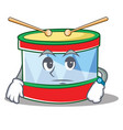 waiting toy drum character cartoon vector image vector image