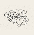 happy valentines day greeting card font vector image