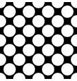 seamless polka dot pattern white dots on black vector image