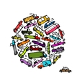 Cars collection frame for your design vector image