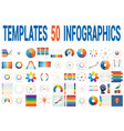 50 templates for infographics for seven positions vector image vector image