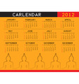 a calendar for 2012 desktop calendar or postcard vector image