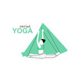 aerial fly yoga logo template anti-gravity yoga vector image