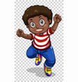African american boy on transparent background