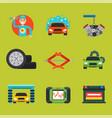 auto car repair service symbols isolated shop vector image vector image