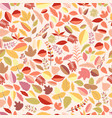 autumn pattern on a light background vector image vector image