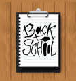 back to school text on mock up clipboard vector image