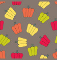 bell peppers stylized seamless pattern vector image vector image