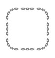 black chain frame vector image vector image