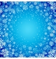 blue background with snowflakes vector image vector image