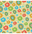 bright seamless floral pattern vector image