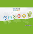 business infographic milestone template mountain vector image vector image