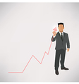 Businessman graph up vector image