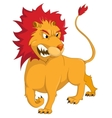 cartoon character lion vector image vector image