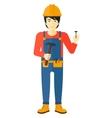 Cheerful repairman engineer vector image
