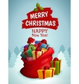 Christmas bag poster vector image