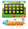 Computer game template with farm theme vector image vector image