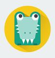 Crocodile Baby Animal Icon vector image vector image
