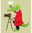 Crocodile photographer vector | Price: 3 Credits (USD $3)