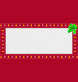 cute christmas or new year red rectangle vector image vector image